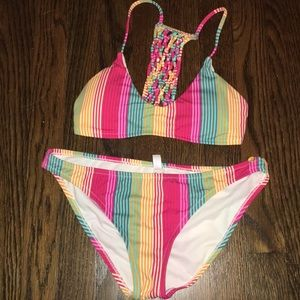 Altar'd state striped swimsuit